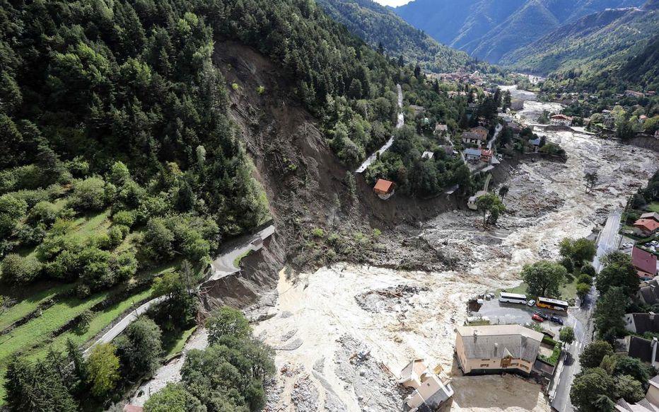 Inondations à Saint Martin de Vésubie